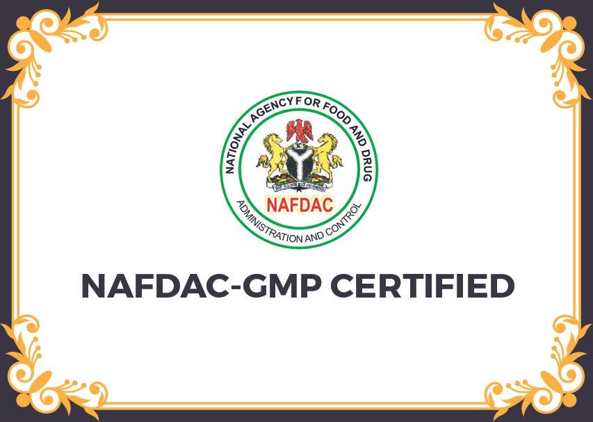 NAFDAC-GMP-certified