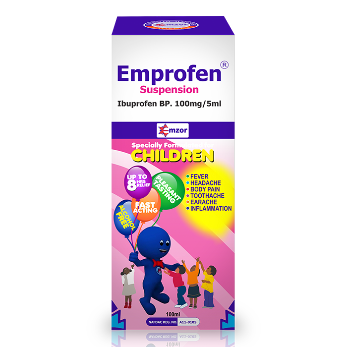 EmprofenSuspension 100mg/5ml Image