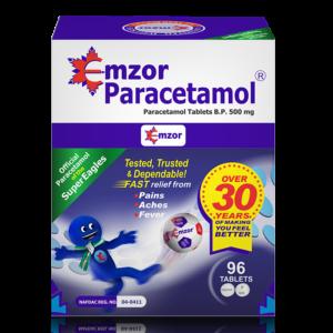 EmzorParacetamol 500mg Tablets *96 Image