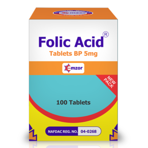 Folic Acid 5Mg BP Tablets *100 Image