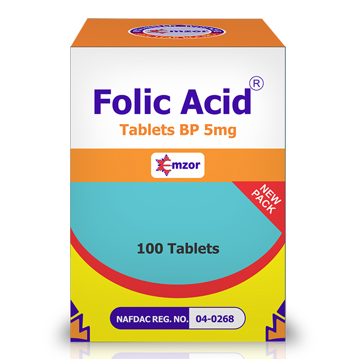 Folic Acid 5Mg BP Tablets *100   Image