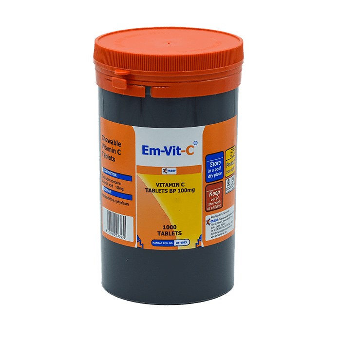 Em-Vit-C 100Mg Tabs Chewable *1000 Image