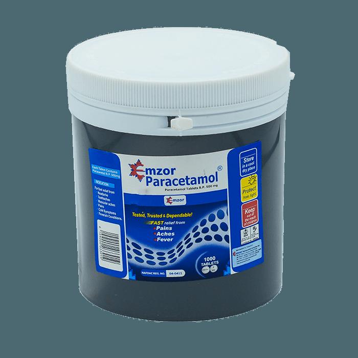 EmzorParacetamol 500mg Tablets *1000 Image