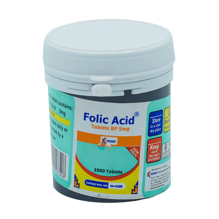 Folic Acid 5Mg BP Tablets *1000  Image