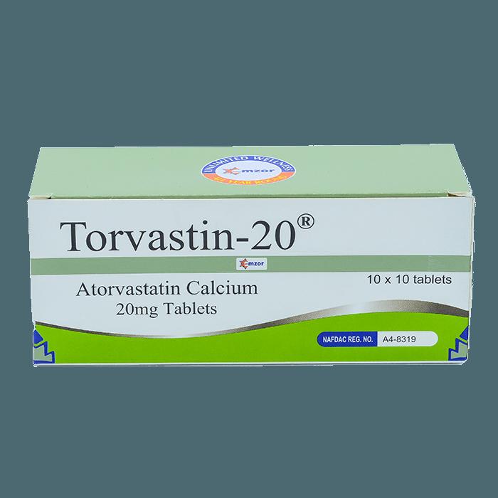 Torvastin-20 (Atorvastatin) Tab Image