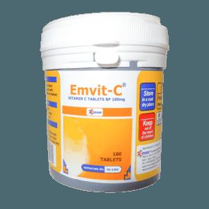 Em-Vit-C 100mg Tablet (White) *100 Image