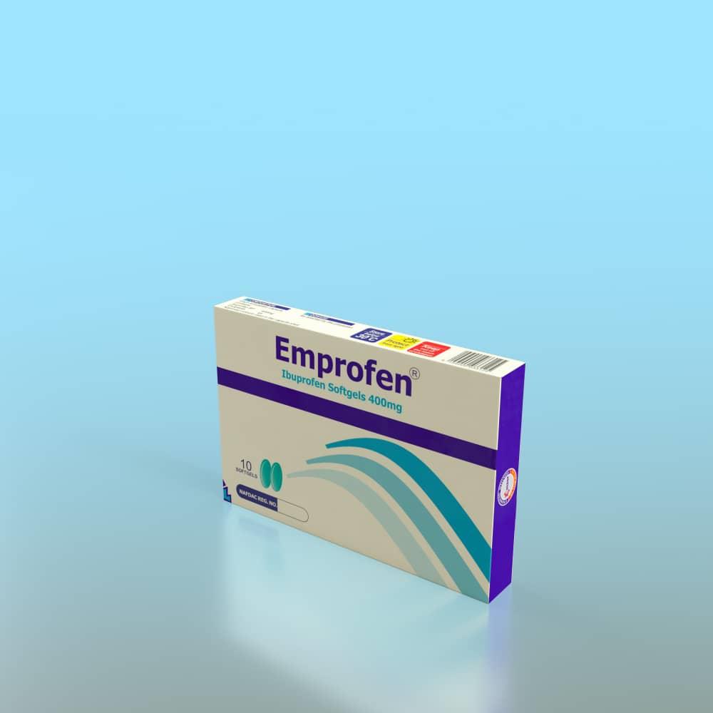 EmprofenE 400mg Soft Gel 1*10 Image